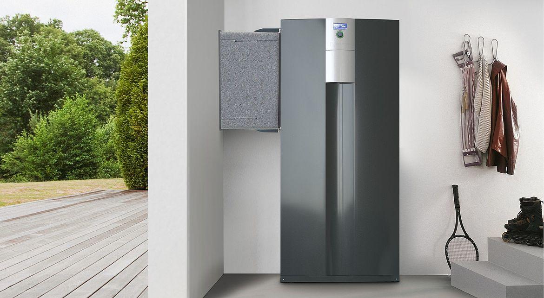 Luft-Wasser-Wärmepumpe zur Innenaufstellung von alpha innotec