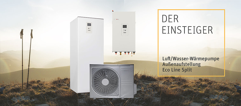 Eco Line Split: Wärmepumpe für Einsteiger