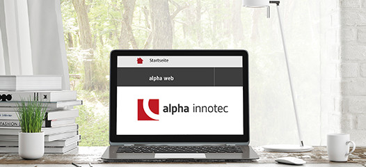 alpha web Steuerung der Wärmepumpe am PC